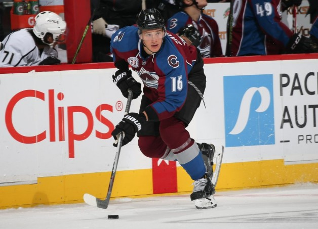 DENVER, CO - SEPTEMBER 27: of the Colorado Avalanche skates against the Los Angeles Kings at the Pepsi Center on September, 2015 in Denver, Colorado.  (Photo by Michael Martin/NHLI via Getty Images)